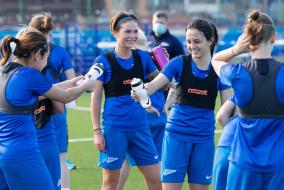 Первая летня тренировка женской команды «Зенит»