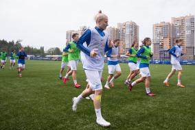 Тренировка женской команды «Зенит»