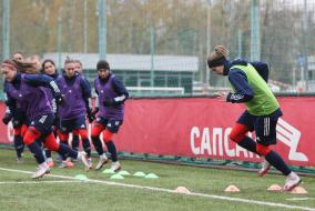 Тренировка женской национальной сборной России