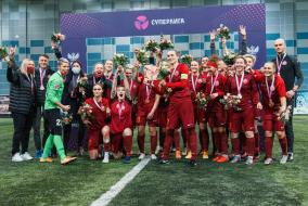 Награждение бронзовыми медалями Суперлиги: ЖФК