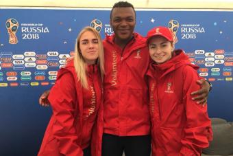Российские футболистки приняли участие в открытии Парка футбола к ЧМ-2018
