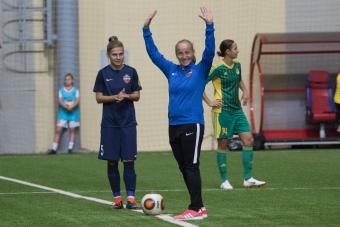 Ольга Капустина нанесла символический удар в матче