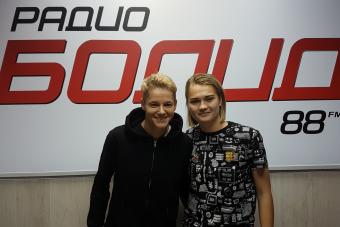 Ирина Зварич и Анна Синько на утреннем эфире