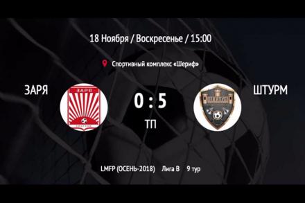 Техническое поражение ФК «Заря»