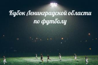 Опубликовано расписание игр Кубков Ленинградской области по футболу