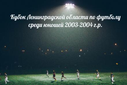 Результаты 1/8 финала Кубка Ленинградской области по футболу среди команд юношей 2003-2004 г.р.