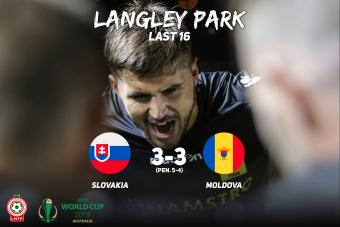 Молдова покидает Чемпионат Мира, проигрывая Словакии по пенальти