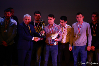 Церемония награждения победителей и призеров Чемпионата города по Русскому футболу 2019