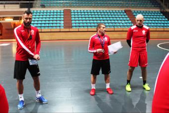 Сборная Беларуси провела первую тренировку в Повуа-де-Варзин