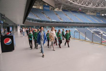 Самарские футболисты на Газпром Арене
