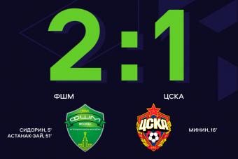 ФШМ обыгрывает ЦСКА в матче 8-го тура ЮФЛ-1