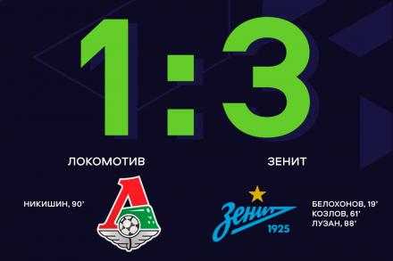 «Зенит» обыграл «Локомотив» в гостях, и сохранил лидерство в турнирной таблице