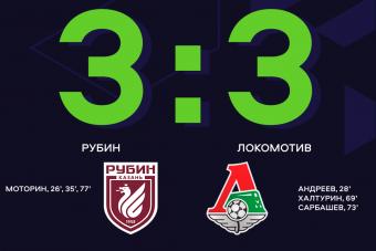 Ничейным результатом закончился матч на казанском стадионе