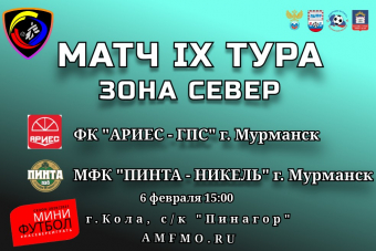 Чемпионат Мурманской области по мини-футболу среди мужских команд сезон 2020/2021гг.
