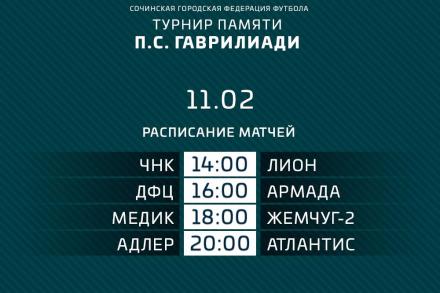 Сегодня стартует традиционный турнир памяти П.С. Гаврилиади