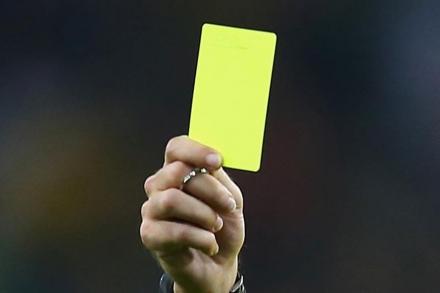 Внимание!  Информация по желтым карточкам в кубковых турнирах