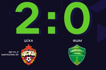 Голы Мархолии и Бегуна приносят ЦСКА победу в домшнем матче