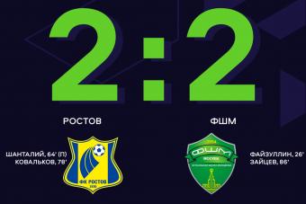 «Ростов» сыграл вничью с ФШМ