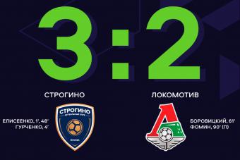 «Строгино» в упорной борьбе обыграл «Локомотив»