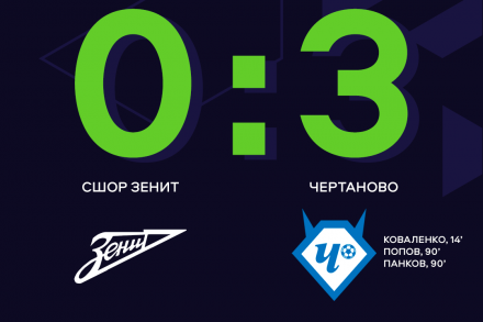 «Чертаново» разгромил СШОР «Зенит» благодаря двум голам в дополнительное время