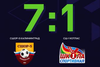 Калининградская СШОР-5 стартовала с разгромной победы