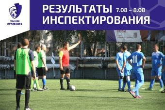 Рейтинг судей по итогам матчей Томской Суперлиги от 7.08 – 8.08