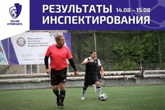 Рейтинг судей по итогам матчей Томской Суперлиги от 14.08 – 15.08