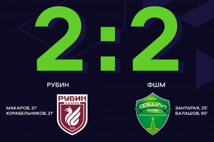 Никита Балашов на последней минуте приносит ФШМ ничью в матче с
