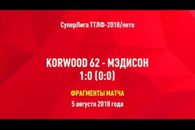 Финал СуперЛиги-2018/лето. Korwood 62 - Мэдисон - 1:0. Фрагменты матча