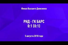 05.08.2018. РНД - ГК БАРС - 0:1