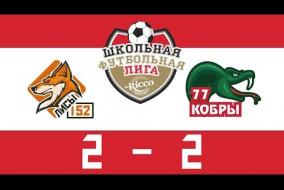 Школьная Футбольная Лига 2019. ЛИСЫ (152) vs КОБРЫ (77). 2:2
