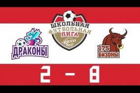 Школьная Футбольная Лига 2019. ДРАКОНЫ (МШ) vs БИЗОНЫ (175). 2:8