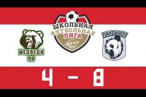 Школьная Футбольная Лига 2019. МЕДВЕДИ (98) vs ПАНДЫ (127). 4:8