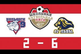 Школьная Футбольная Лига 2019. БУЛЬДОГИ (9) vs ЛЬВЫ (02). 2:6