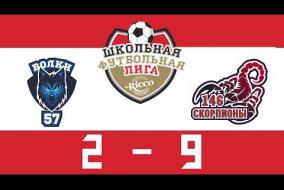 Школьная Футбольная Лига 2019. ВОЛКИ (57) – СКОРПИОНЫ (146). 2:9