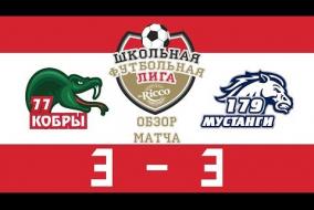 Школьная Футбольная Лига 2019. Кобры (77) vs Мустанги (179). 3:3