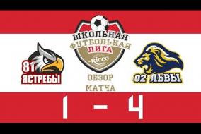 Школьная Футбольная Лига 2019. Ястребы (81) vs Львы (2). 1:4
