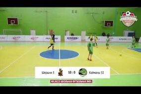 Школьная Футбольная Лига 2019. Обзор матча: Шершни 5 - Кайманы 52
