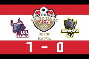 Школьная Футбольная Лига 2019. Обзор матча  Быки (101) vs Носороги (27). 7-0