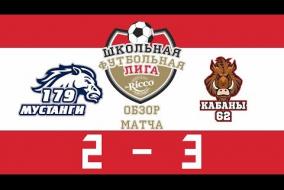 Школьная Футбольная Лига 2019. Обзор матча Мустанги (132) vs Кабаны (62). 2-3