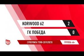 29.06.2019.Korwood 62-ГК Победа-2:0