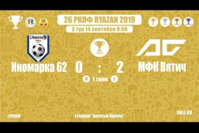 27 РКЛФ | Золотой Кубок | Иномарка 62 - МФК Вятич | 0:2