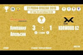 27 РКЛФ | Золотой Кубок | Компания Апельсин - KORWOOD 62 | 3:1