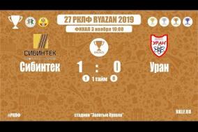 27 РКЛФ | Бронзовы Кубок | Сибинтек - Уран | 1:0