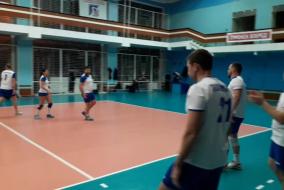 Волейбол 2019-2020 Матч ВСК - Газпромбанк Фрагмент 4 Второй сет 18-22
