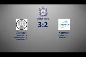 Третья лига 2019/20. Азимут - Харман 3:2
