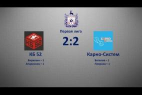 Первая лига 2019/20. КБ-52 - Карно-Систем