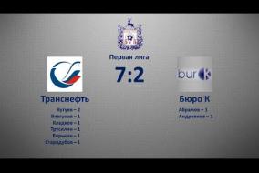 Первая лига 2019/20. Транснефть - Бюро К 7:2
