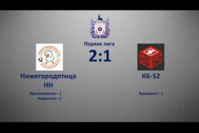 Первая лига 2019/20. Нижегородптица НН - КБ-52 2:1