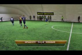 Обзор матча   GETMAN KYIV 5 - 4 HOOLIGANS